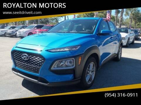 2019 Hyundai Kona for sale at ROYALTON MOTORS in Plantation FL