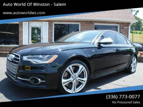 2013 Audi S6 for sale at Auto World Of Winston - Salem in Winston Salem NC