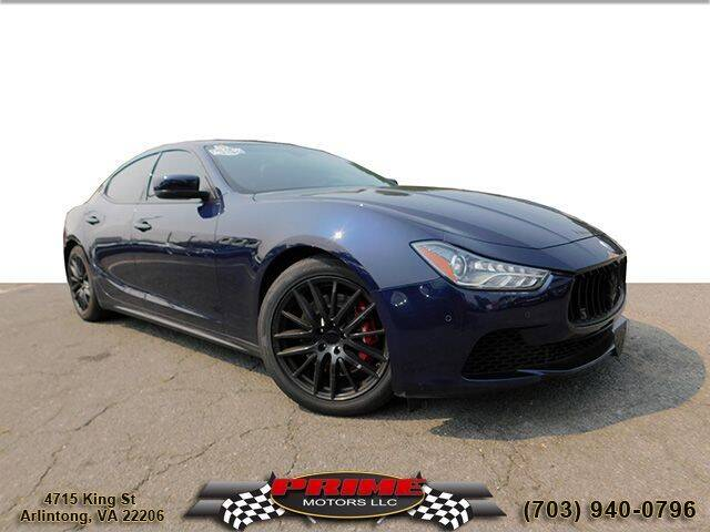 2015 Maserati Ghibli for sale at PRIME MOTORS LLC in Arlington VA