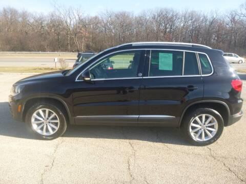 2017 Volkswagen Tiguan for sale at NEW RIDE INC in Evanston IL