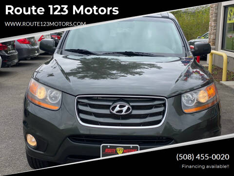 2010 Hyundai Santa Fe for sale at Route 123 Motors in Norton MA