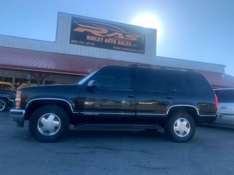 1999 Chevrolet Tahoe for sale at Ridley Auto Sales, Inc. in White Pine TN