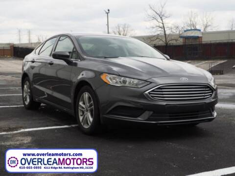 2018 Ford Fusion for sale at Overlea Motors in Baltimore MD