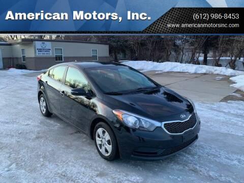 2015 Kia Forte for sale at American Motors, Inc. in Farmington MN