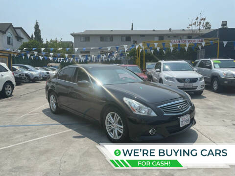 2013 Infiniti G37 Sedan for sale at Good Vibes Auto Sales in North Hollywood CA