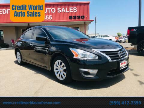 2015 Nissan Altima for sale at Credit World Auto Sales in Fresno CA