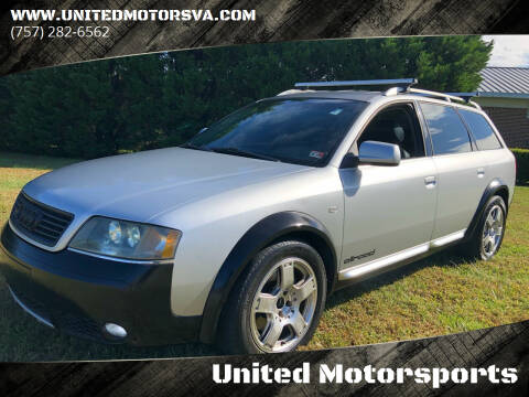 2001 Audi Allroad for sale at United Motorsports in Virginia Beach VA