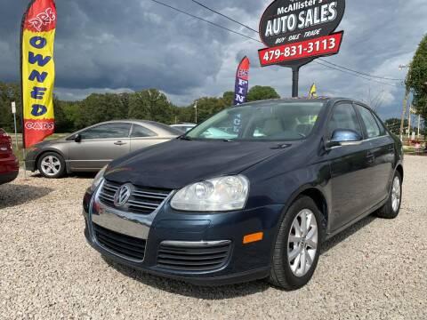 2010 Volkswagen Jetta for sale at McAllister's Auto Sales LLC in Van Buren AR