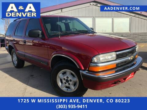 1999 Chevrolet Blazer for sale at A & A AUTO LLC in Denver CO