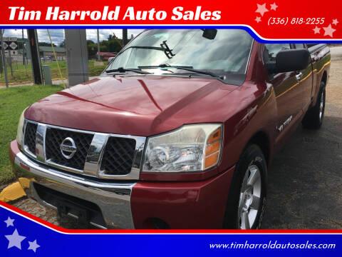 2007 Nissan Titan for sale at Tim Harrold Auto Sales in Wilkesboro NC