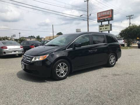 2012 Honda Odyssey for sale at Autohaus of Greensboro in Greensboro NC