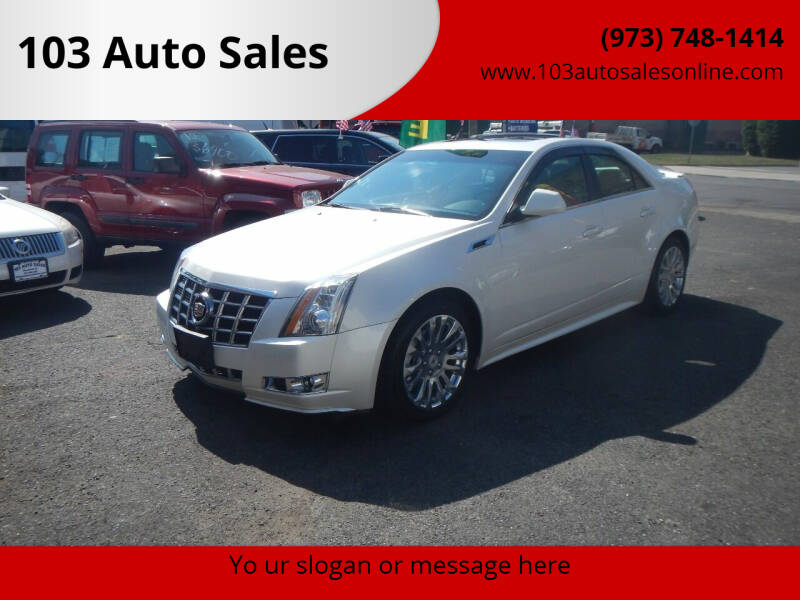 2012 Cadillac CTS for sale at 103 Auto Sales in Bloomfield NJ