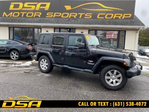 2013 Jeep Wrangler Unlimited for sale at DSA Motor Sports Corp in Commack NY
