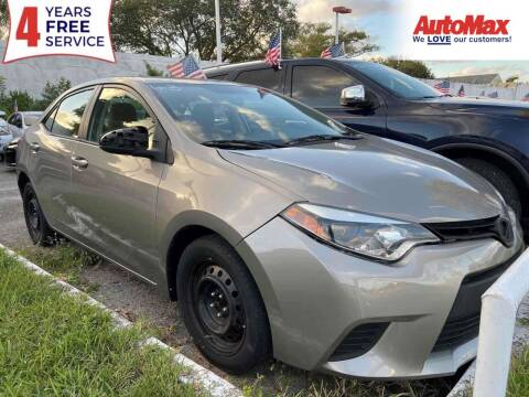 2014 Toyota Corolla for sale at Auto Max in Hollywood FL