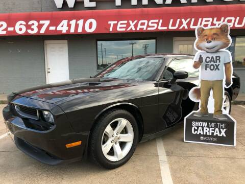 2014 Dodge Challenger for sale at Texas Luxury Auto in Cedar Hill TX