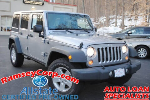 2015 Jeep Wrangler Unlimited for sale at Ramsey Corp. in West Milford NJ