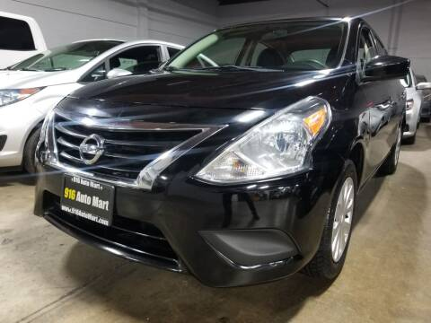 2017 Nissan Versa for sale at 916 Auto Mart ONLY $399 DOWN!!!* in Sacramento CA