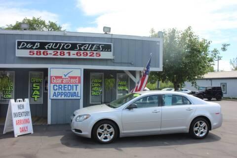 2012 Chevrolet Malibu for sale at D & B Auto Sales LLC in Washington Township MI