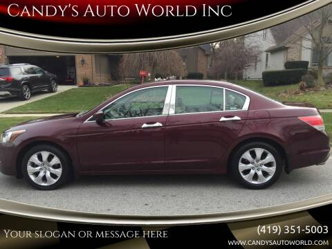 2009 Honda Accord for sale at Candy's Auto World Inc in Toledo OH