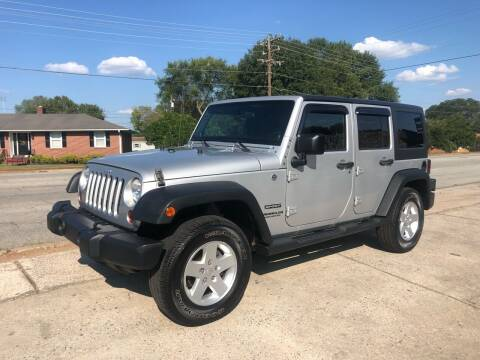 2012 Jeep Wrangler Unlimited for sale at E Motors LLC in Anderson SC