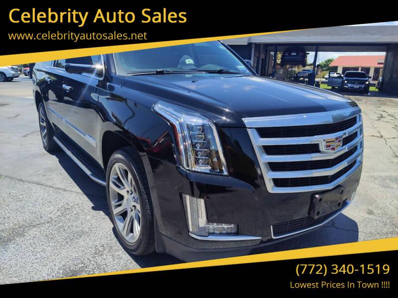 2016 Cadillac Escalade ESV for sale at Celebrity Auto Sales in Port Saint Lucie FL