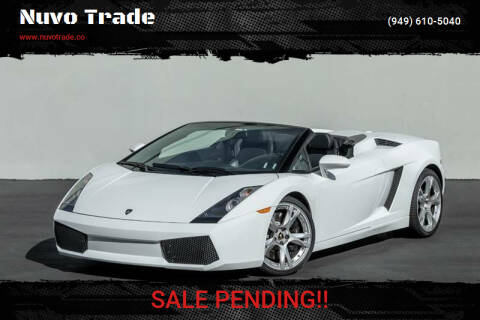2008 Lamborghini Gallardo for sale at Nuvo Trade in Newport Beach CA