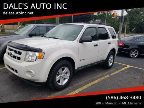 2009 Ford Escape Hybrid for sale at DALE'S AUTO INC in Mt Clemens MI