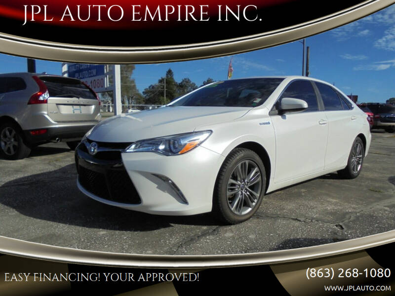 2016 Toyota Camry Hybrid for sale at JPL AUTO EMPIRE INC. in Auburndale FL