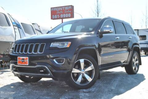2015 Jeep Grand Cherokee for sale at Frontier Auto & RV Sales in Anchorage AK