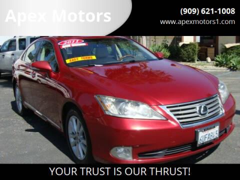 2011 Lexus ES 350 for sale at Apex Motors in Montclair CA