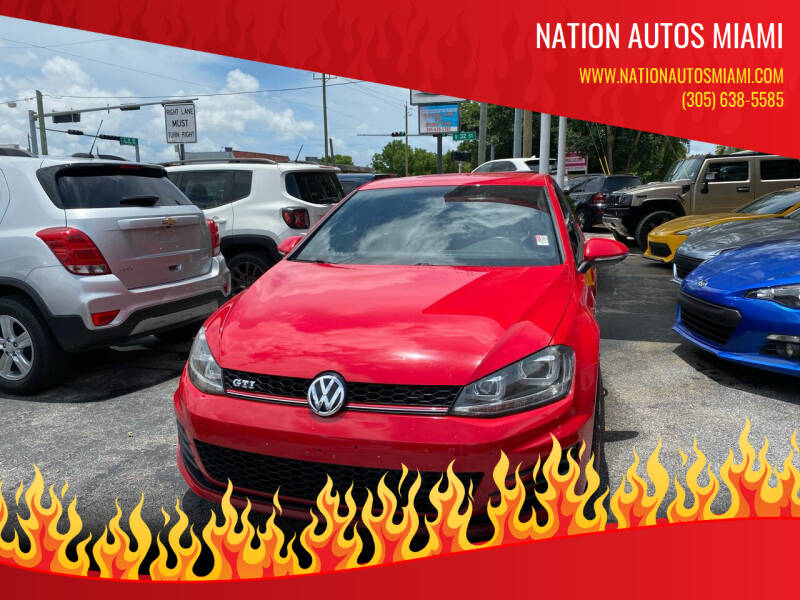 2015 Volkswagen Golf GTI for sale at Nation Autos Miami in Hialeah FL