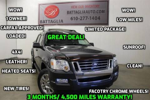 2010 Ford Explorer Sport Trac for sale at Battaglia Auto Sales in Plymouth Meeting PA