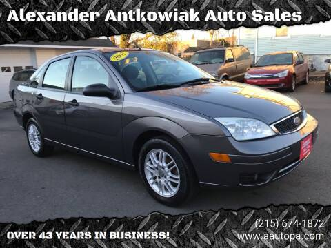2007 Ford Focus for sale at Alexander Antkowiak Auto Sales in Hatboro PA