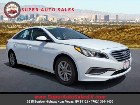 2016 Hyundai Sonata for sale at Super Auto Sales in Las Vegas NV