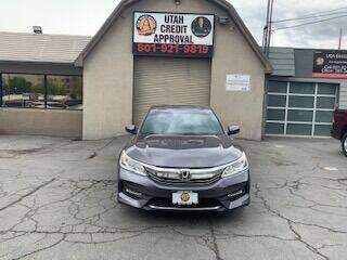 2017 Honda Accord for sale at Utah Credit Approval Auto Sales in Murray UT