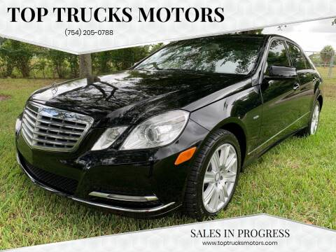 2012 Mercedes-Benz E-Class for sale at Top Trucks Motors in Pompano Beach FL