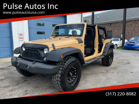 2014 Jeep Wrangler Unlimited for sale at Pulse Autos Inc in Indianapolis IN