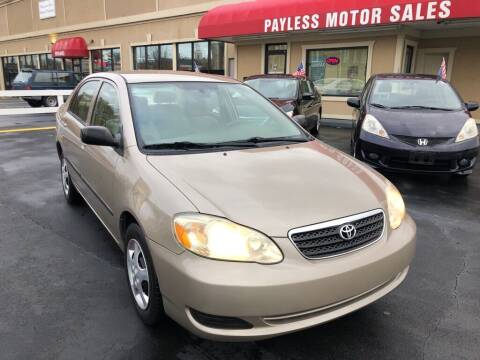 2006 Toyota Corolla for sale at Payless Motor Sales LLC in Burlington NC