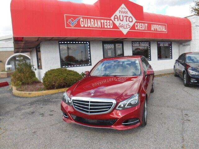 2014 Mercedes-Benz E-Class for sale at Oak Park Auto Sales in Oak Park MI
