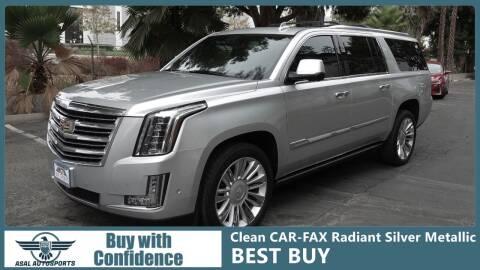 2017 Cadillac Escalade ESV for sale at ASAL AUTOSPORTS in Corona CA