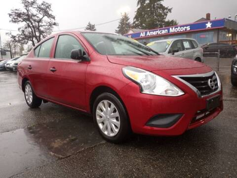 2015 Nissan Versa for sale at All American Motors in Tacoma WA