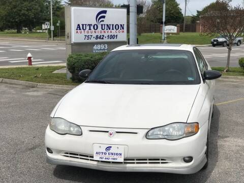 2005 Chevrolet Monte Carlo for sale at Auto Union LLC in Virginia Beach VA
