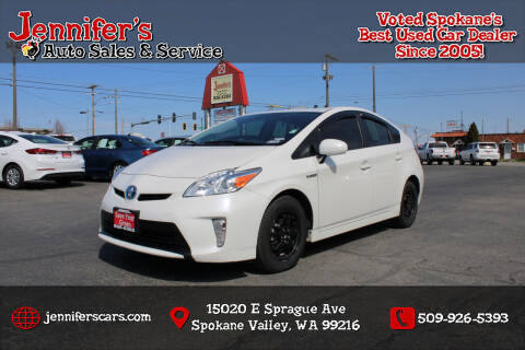 2012 Toyota Prius for sale at Jennifer's Auto Sales in Spokane Valley WA