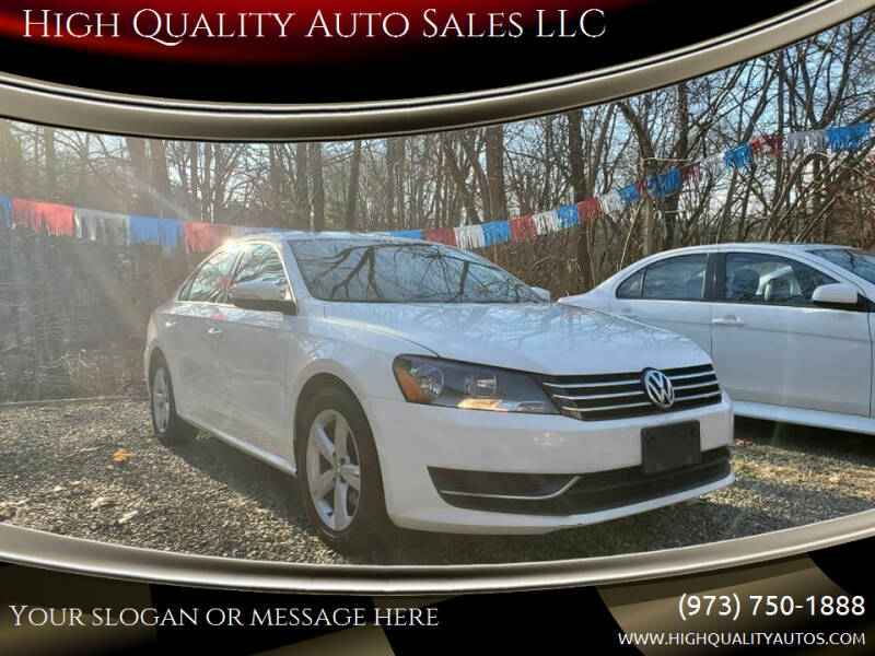 2013 Volkswagen Passat for sale at High Quality Auto Sales LLC in Bloomingdale NJ