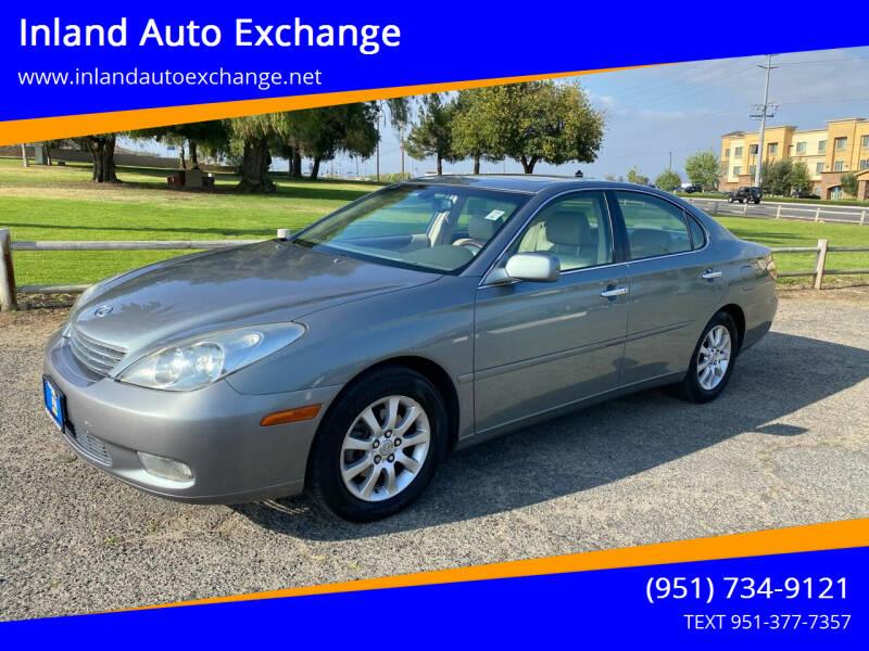 2002 Lexus ES 300 for sale at Inland Auto Exchange in Norco CA