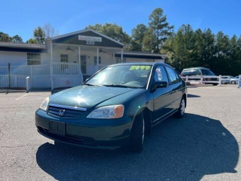 2001 Honda Civic for sale at CVC AUTO SALES in Durham NC