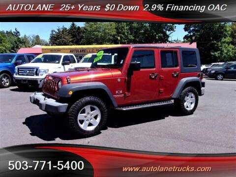 2009 Jeep Wrangler Unlimited for sale at Auto Lane in Portland OR