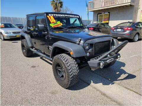 2014 Jeep Wrangler Unlimited for sale at D & I Auto Sales in Modesto CA