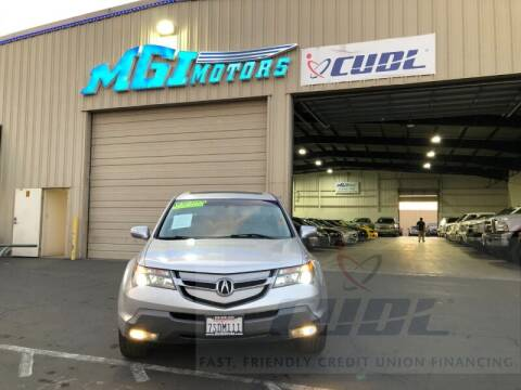 2008 Acura MDX for sale at MGI Motors in Sacramento CA