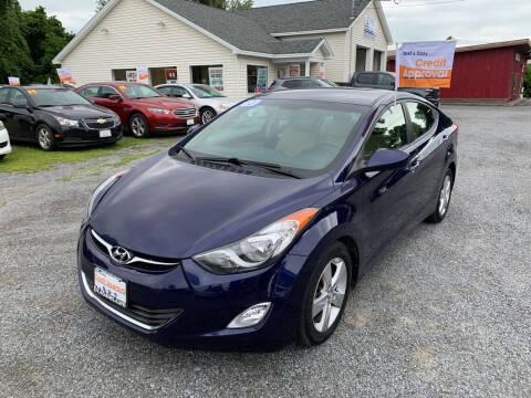 2013 Hyundai Elantra for sale at Evia Auto Sales Inc. in Glens Falls NY